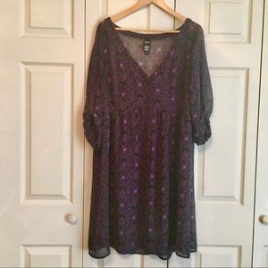 Disney Ursula sheer button down dress.